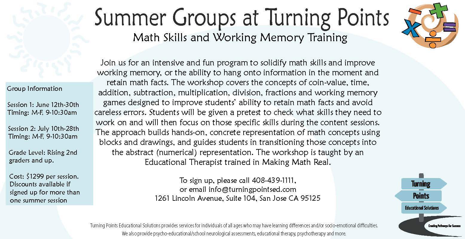 Summer Groups Flier – Math Group copy « Turning Points Educational ...
